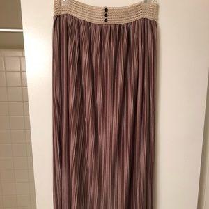 Mauve maxi skirt